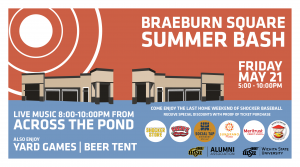 The Braeburn Square Summer Bash will take place 5-10 p.m. May 21.