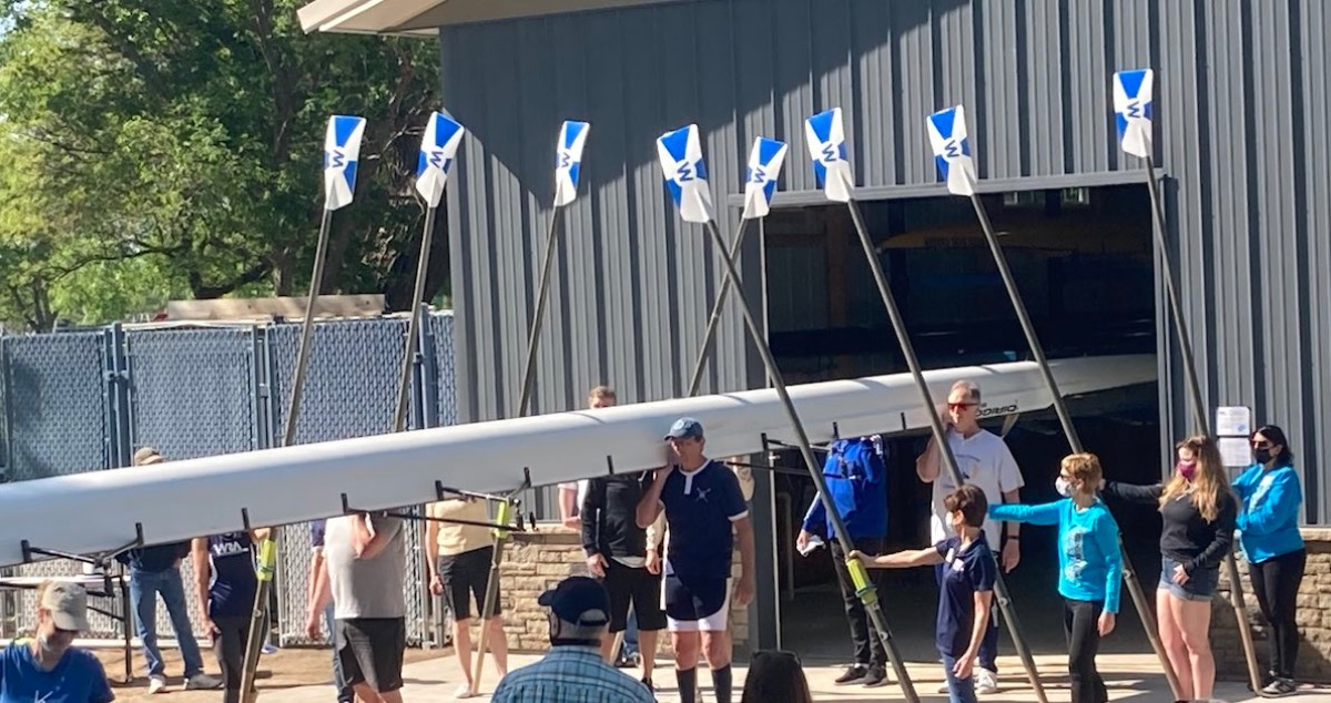 A group of former Wichita State rowers helped raise money, plan and organize construction of the Riverside Rowing Center Boathouse at Riverside Park on the Little Arkansas River.