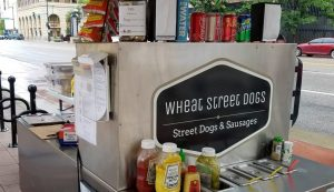 Stop by the plaza for Wheat Street Dogs food truck from 11 a.m. to 1 p.m. today.
