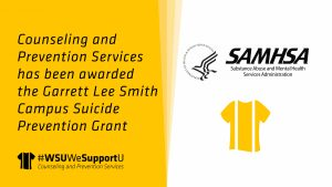 Counseling and Prevention Services has been awarded the Garrett Lee Smith Campus Suicide Prevention Grant