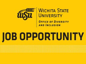 Graphic of text reading Job Opportunity in the WSU Office of Diversity and Inclusion