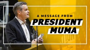 A message from President Muma graphic.