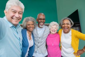 Five senior Lifelong Learners.