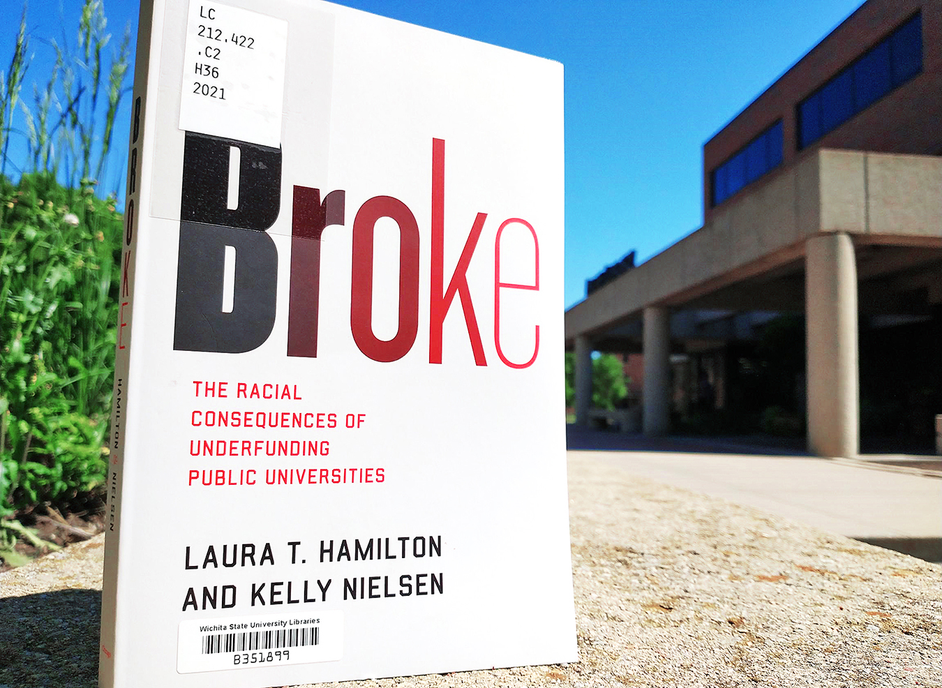 """Image of physical copy of the book """"Broke."""""""