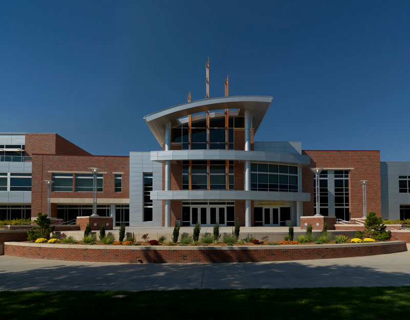 Photo of south entrance of Rhatigan Student Center.
