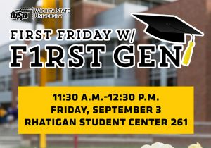 meet-up first-gen shocker students & WSU employees for snacks, trivia and conversation