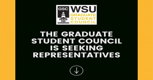 The Graduate Student Council is seeking representatives. Nominations are due September 3, 2021. To nominate yourself or another student, visit bit.ly/GSCNominationsFall2021. Contact Angelique Banh at gsc.vicepresident@wichita.edu with questions.