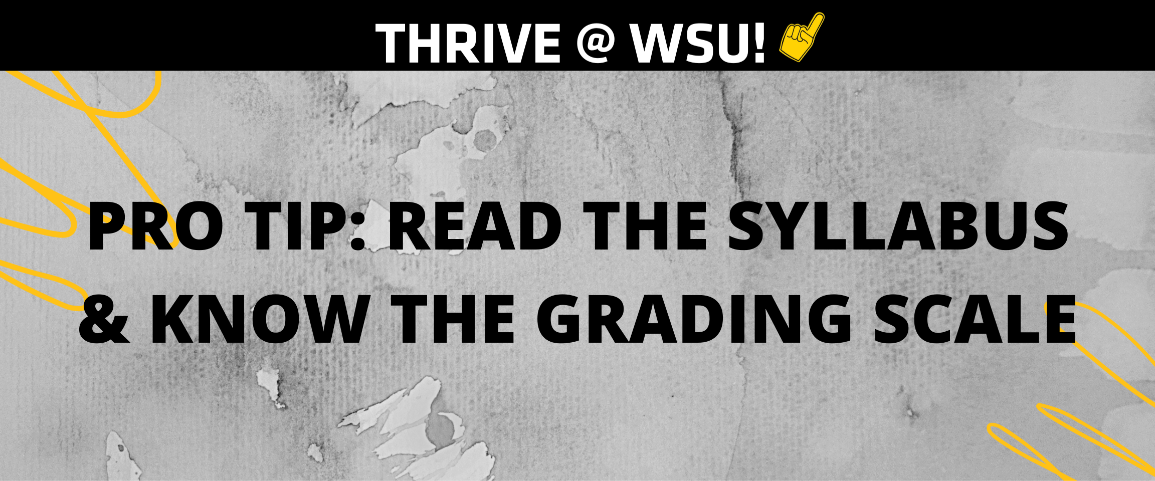 Pro Tip: Read the Syllabus and Know the Grading Scale