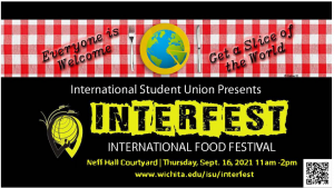 The InterFest is to be held on Thursday September the 16th 2021 from 11am-2pm in the Neff Hall Courtyard. Registrations close at midnight on September 2nd ,2021. Sign up, cook your ethnic food, sell them, make new friends and most importantly, enjoy a slice of the world1