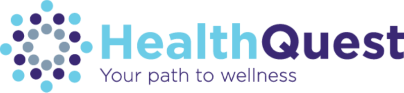 Graphic featuring text, 'Image Alt Text HealthQuest - your path to wellness.'