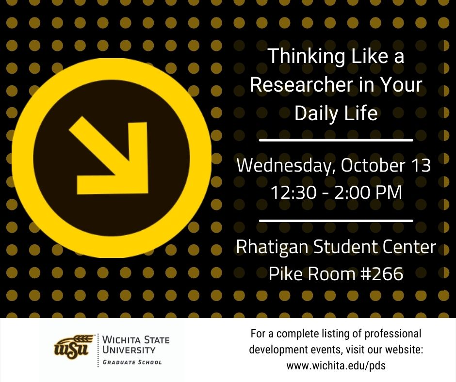 Thinking Like a Researcher Your Daily Life October 13, 12:30-2:00 PM Rhatigan Student Center Pike Room #266