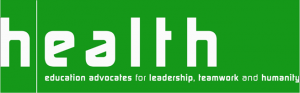 Graphic featuring text ' (Health Education Advocates for Leadership, Teamwork, and Humanity).'