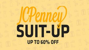 raphic featuring text 'Students, faculty and staff are all invited to join Wichita State's Shocker Career Accelerator for its JCPenney Suit-Up Event 3-6 p.m. Sunday, Sept. 12 at the JCPenney located in Towne East Mall.'