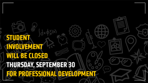 Student Involvement will be partially closed Thursday, September 30.