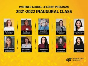 The first cohort of the Widener Global Leaders Program will consist of 10 women from the Barton School of Business, the Elliott School of Communication in Fairmount College of Liberal Arts and Sciences, and the School of Music in the College of Fine Arts.