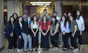 Picture of 16 members of WSU's Latinos Lead.