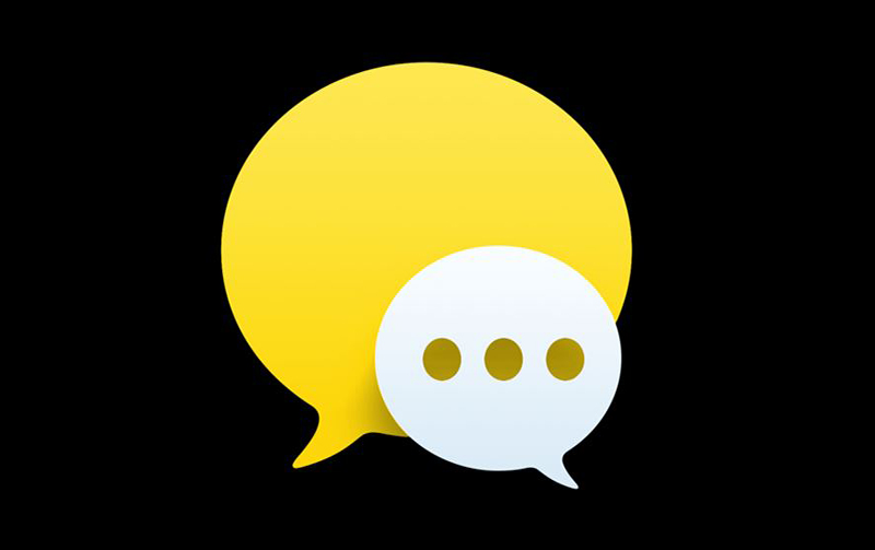 Graphic featuring yellow and white text bubbles.