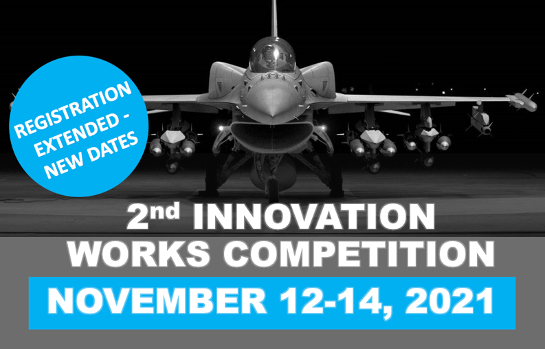Graphis featuring jet and text 'Registration Extended - New Dates. 2nd Innovation Works Competition. November 12-14, 2021.'