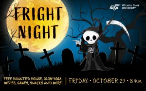 Fright Night Free haunted house, glow yoga, movies, games, snacks and more! | Friday, October 29, 8 p.m.