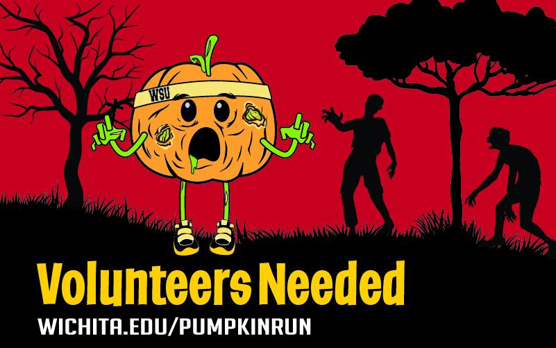 Volunteers Needed wichita.edu/pumpkinrun